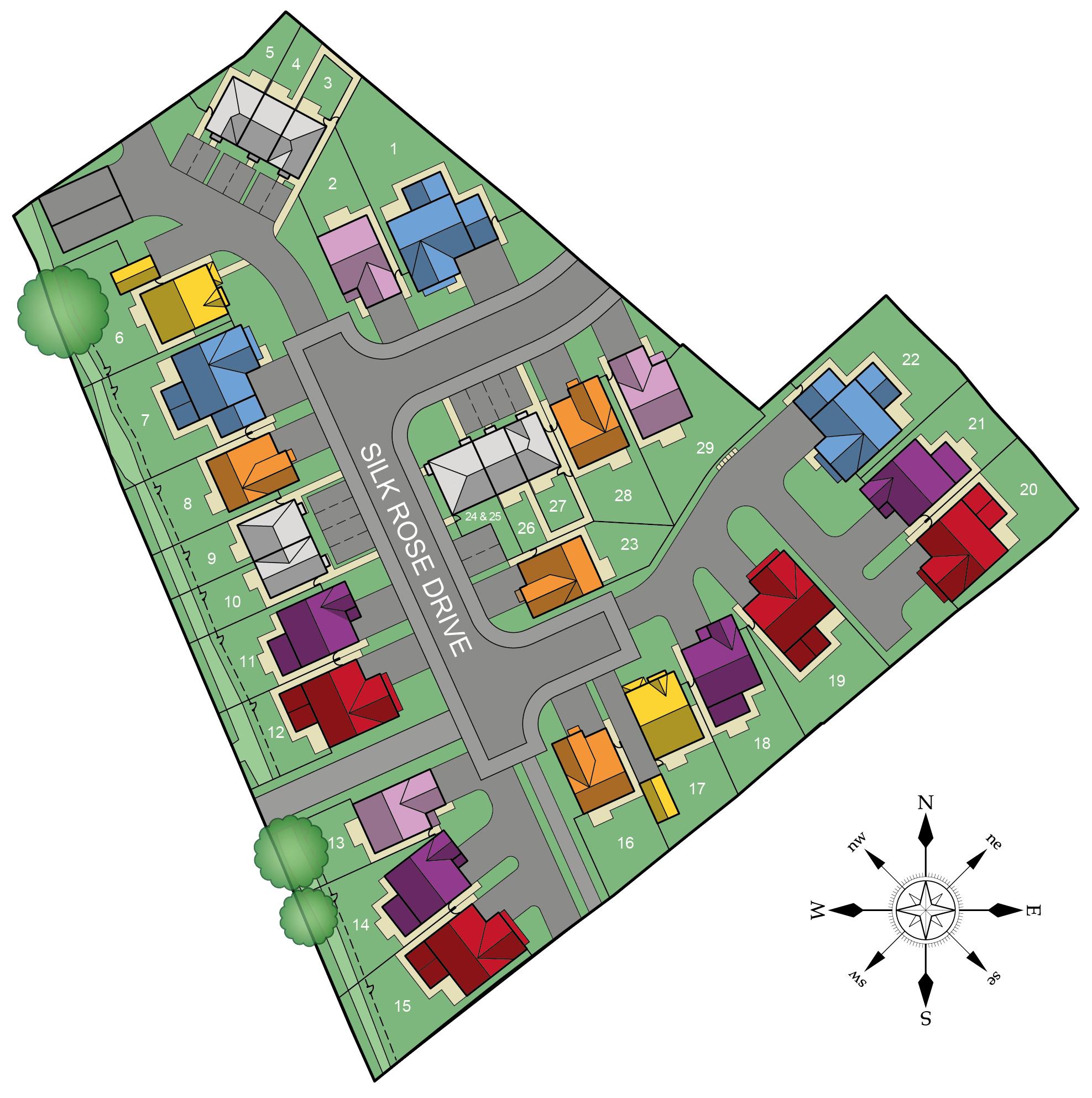 Silk Rose Place Site Plan
